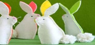آموزش دوخت عروسک انگشتی خرگوش نمدی