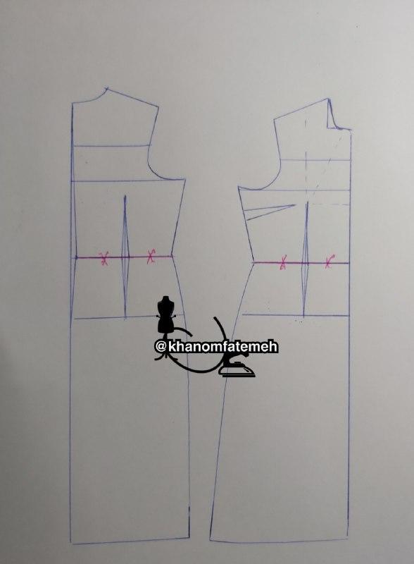 آموزش لباس مجلسی ژورنالی