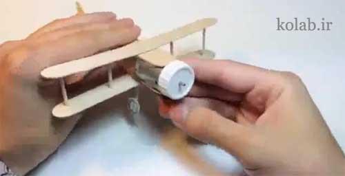 ساخت هواپیما با چوب بستنی موتور دار