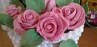 آموزش تزئین گلدان