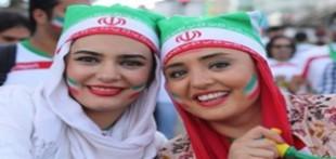 تصاویر بازیگران زن ایرانی در استادیوم فوتبال جام جهانی