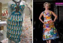 طراحی و دوخت لباس بدون پارچه