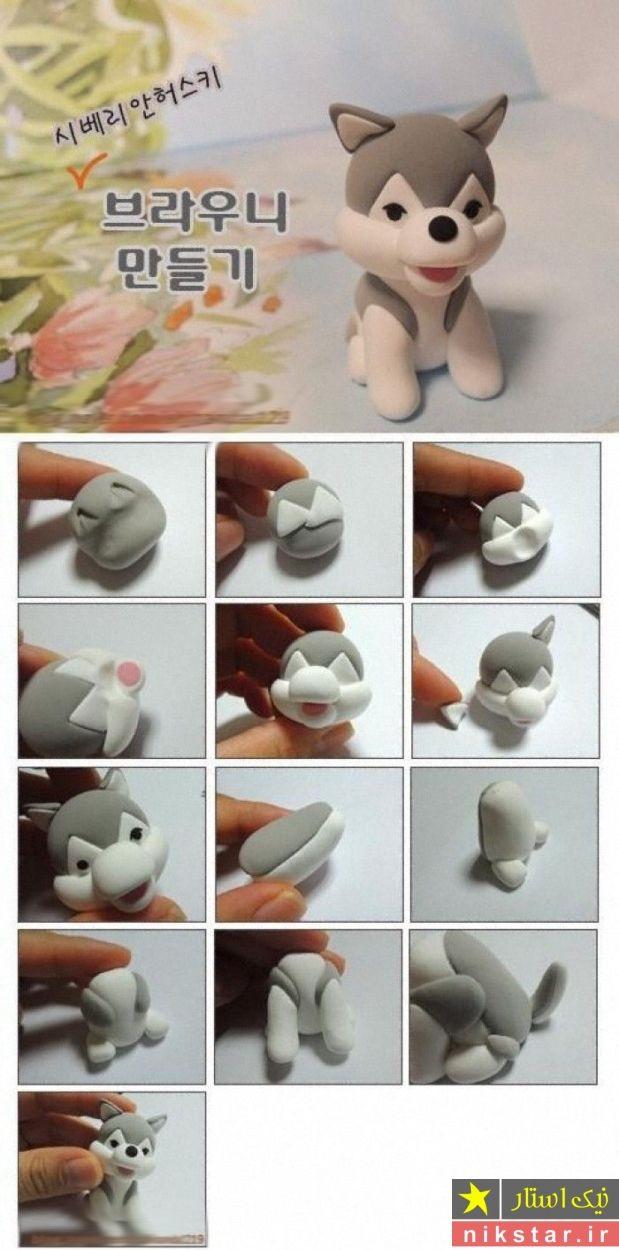 آموزش تصویری ساخت عروسک های خمیری