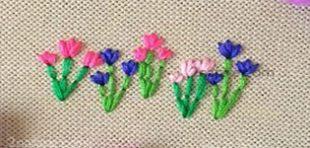 آموزش تابلو گلدوزی گل لاله