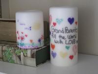 تزیین شمع شخصی