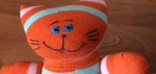 آموزش ساخت عروسک گربه فانتزی با جوراب