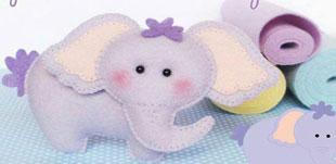 آموزش دوخت عروسک فیل نمدی