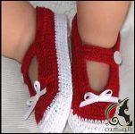 روش بافت کفش نوزاد
