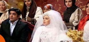 عکس عروسی حدیث فولادوند و همسرش رامبد شکرآبی