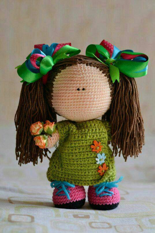 آموزش بافت عروسک دختر