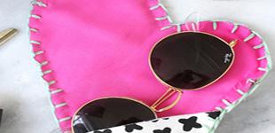 آموزش دوخت کیف عینک فانتزی