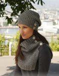 آموزش بافت کلاه شال اسپرت زنانه