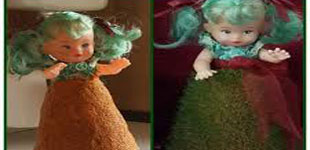 طرز تهیه سبزه مدل عروسکی