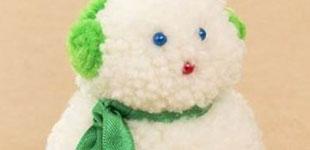 آموزش ساخت عروسک آدم برفی