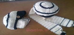 آموزش بافت کلاه شال سرهمی بچگانه