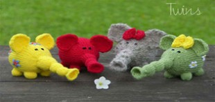 آموزش بافت عروسک بچه فیل ها
