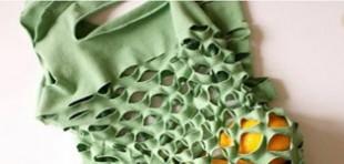 آموزش تصویری دوخت کیسه میوه با تیشرت