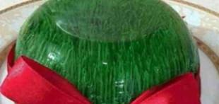 طرز تهیه ژله به شکل سبزه عید،ویژه نوروز 94 (عکس)