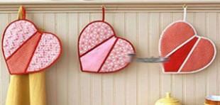 آموزش دوخت دستگیره آشپزخانه به شکل قلب
