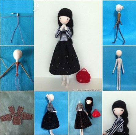 making doll with wires-kolab
