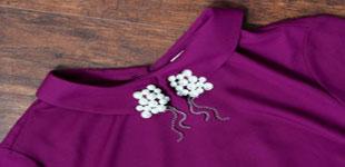 آموزش تصویری تزیین لباس های ساده