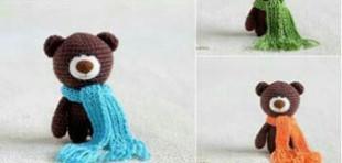 آموزش بافت عروسک خرس فانتزی