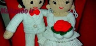 آموزش بافت عروسک عروس داماد