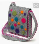 دوخت کیف دخترانه با نمد