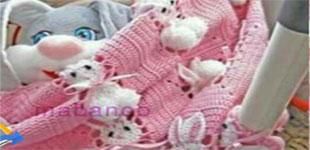 آموزش بافت خرگوشی با قلاب