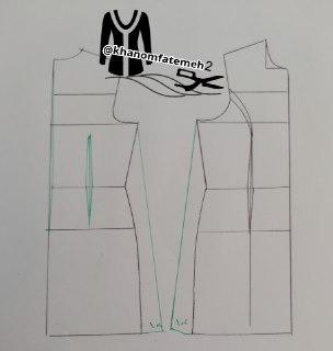 آموزش دوخت سارافون یقه آبشاری و دامن